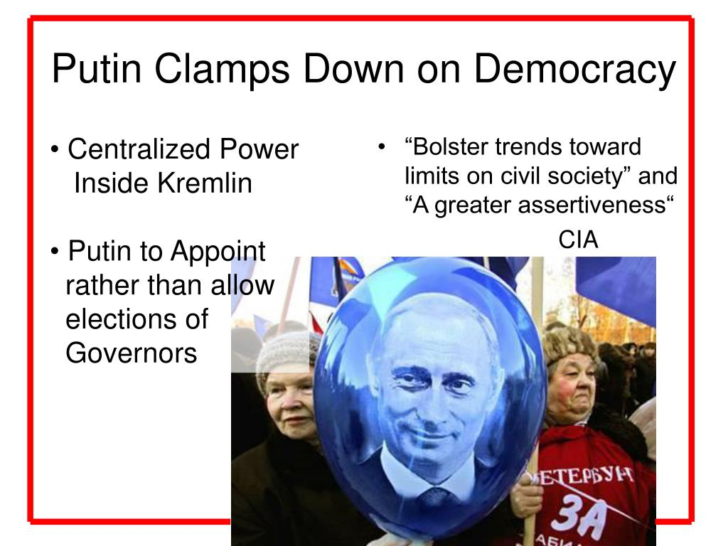 Putin Clamps Down on Democracy