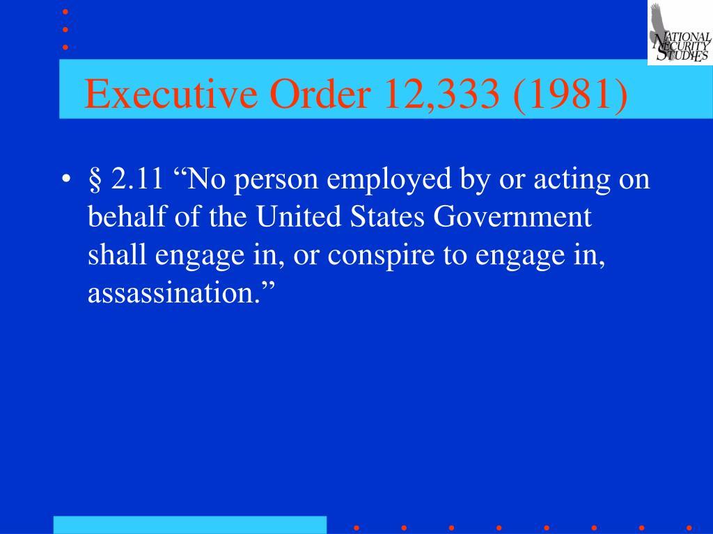 Executive Order 12,333 (1981)