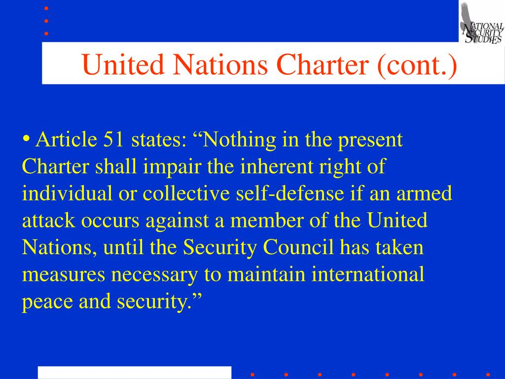 United Nations Charter (cont.)