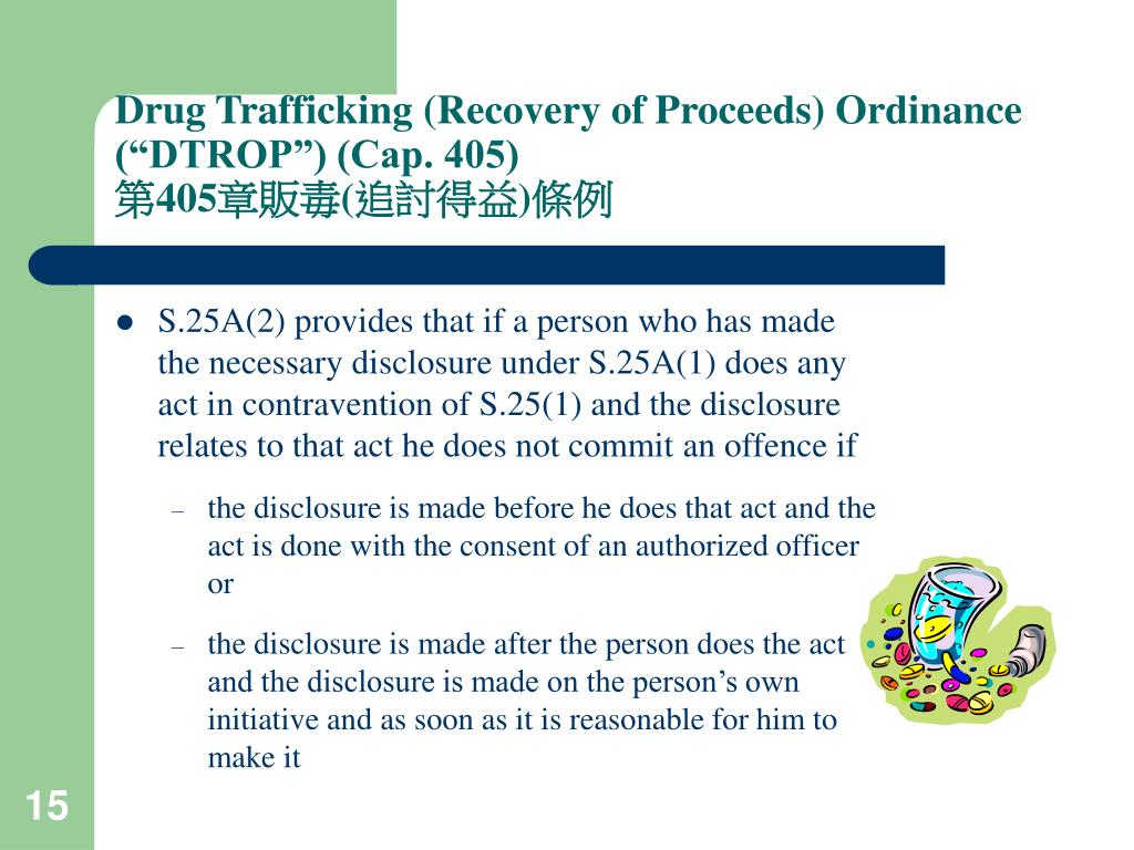 "Drug Trafficking (Recovery of Proceeds) Ordinance (""DTROP"") (Cap. 405)"