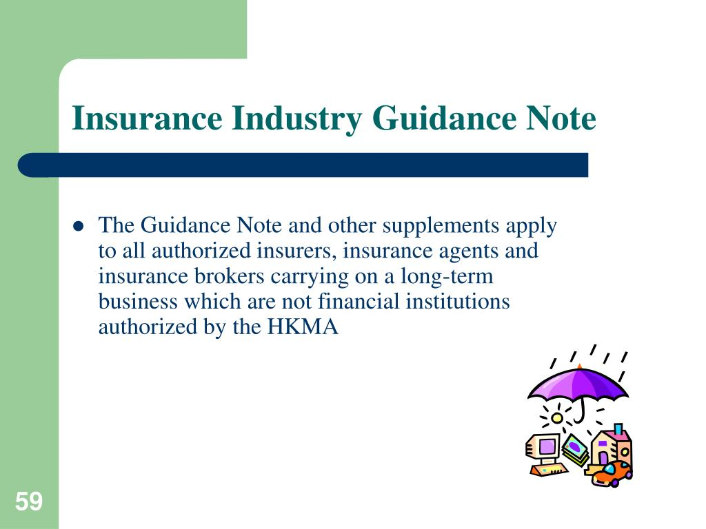 Insurance Industry Guidance Note