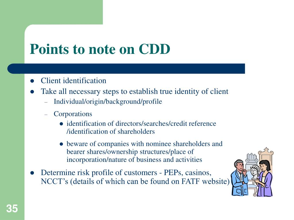 Points to note on CDD