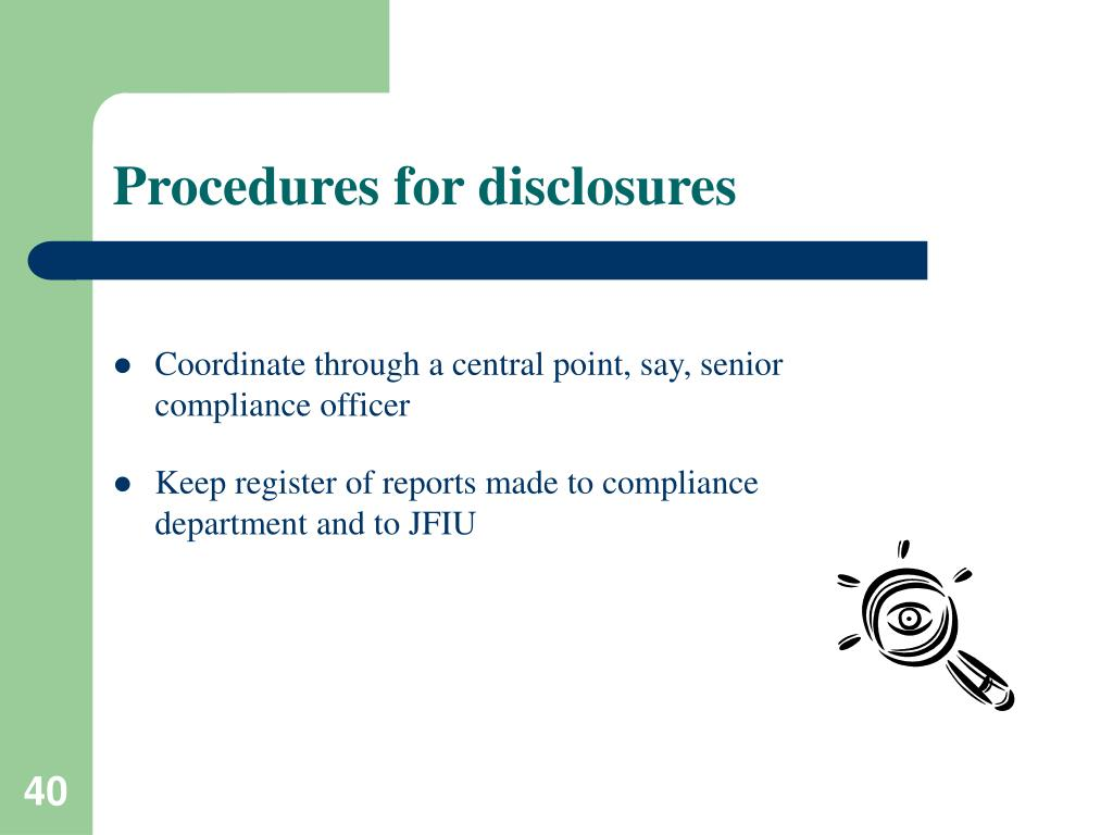 Procedures for disclosures