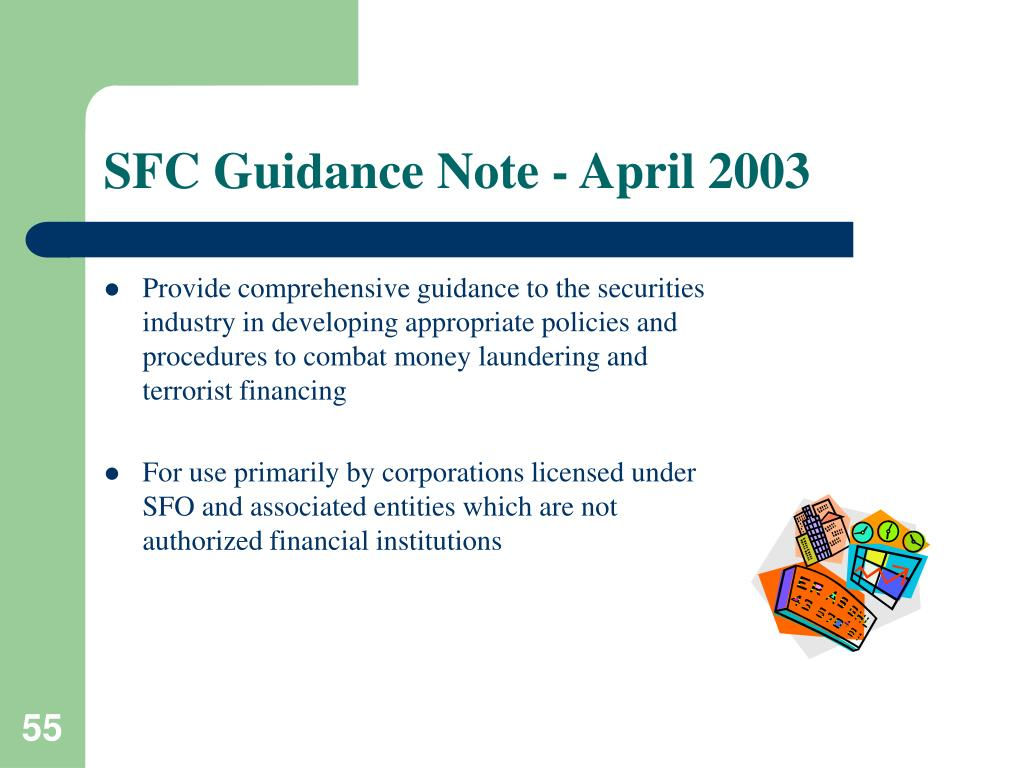 SFC Guidance Note - April 2003