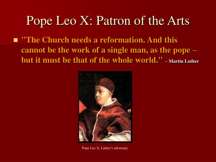 Pope Leo X: Patron of the Arts