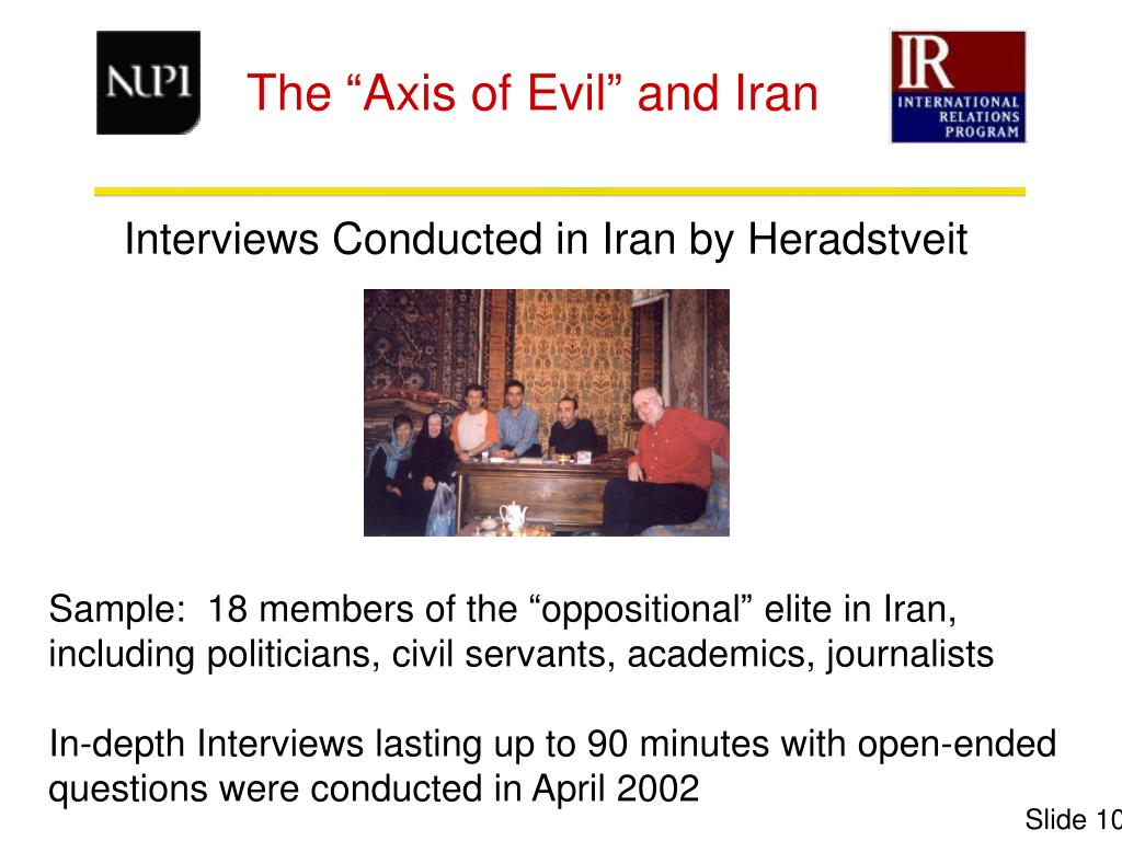 Interviews Conducted in Iran by Heradstveit