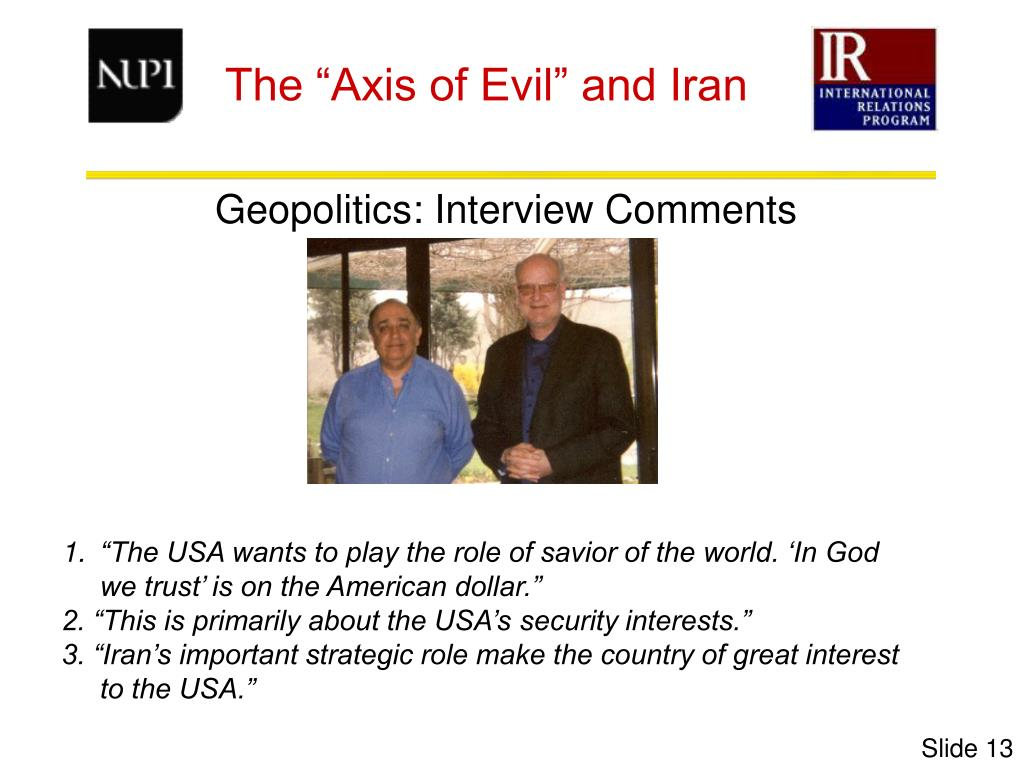 Geopolitics: Interview Comments