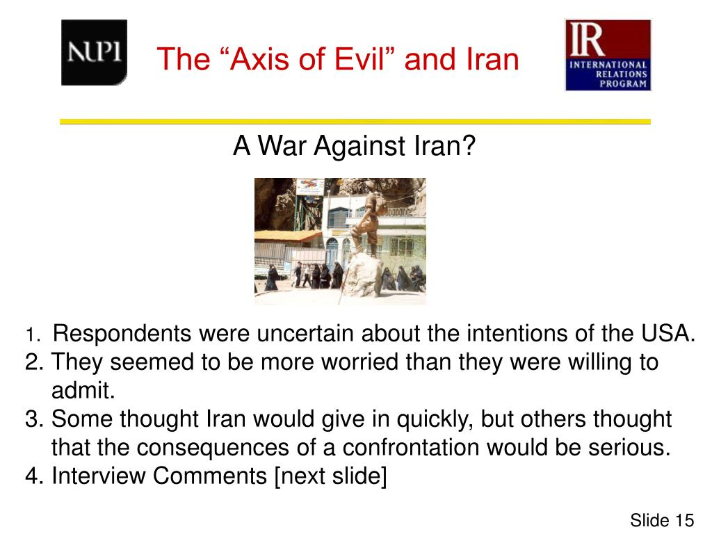 A War Against Iran?