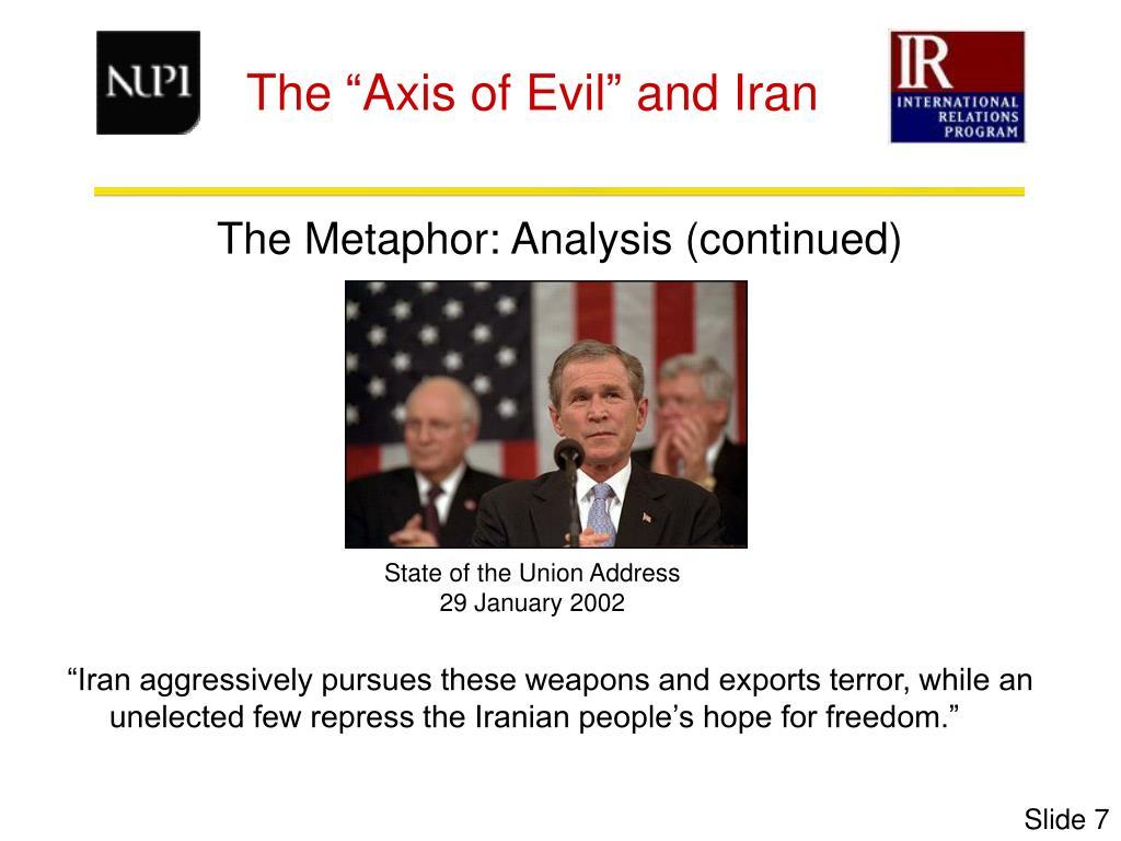 The Metaphor: Analysis (continued)