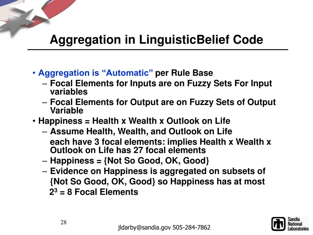 Aggregation in LinguisticBelief Code