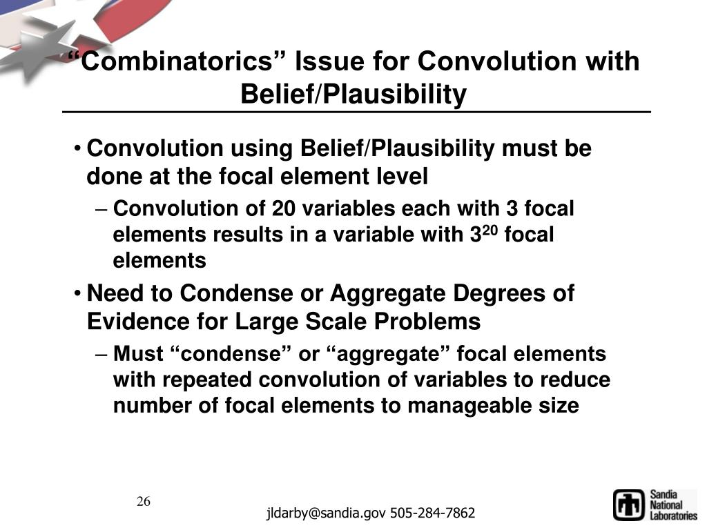 """Combinatorics"" Issue for Convolution with Belief/Plausibility"