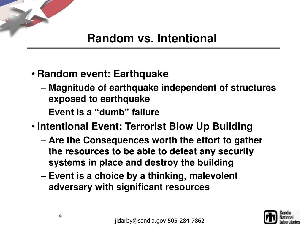 Random vs. Intentional