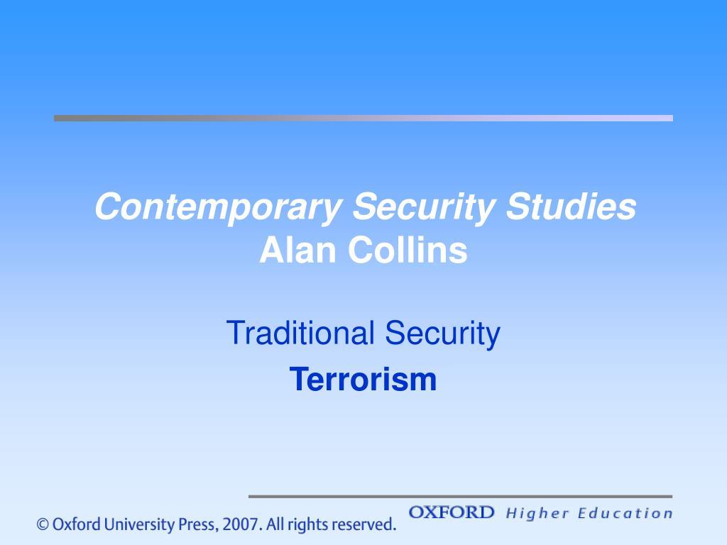 contemporary security studies alan collins
