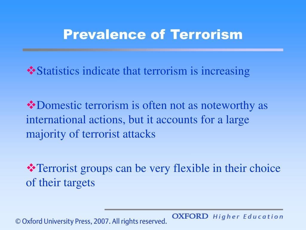 Prevalence of Terrorism