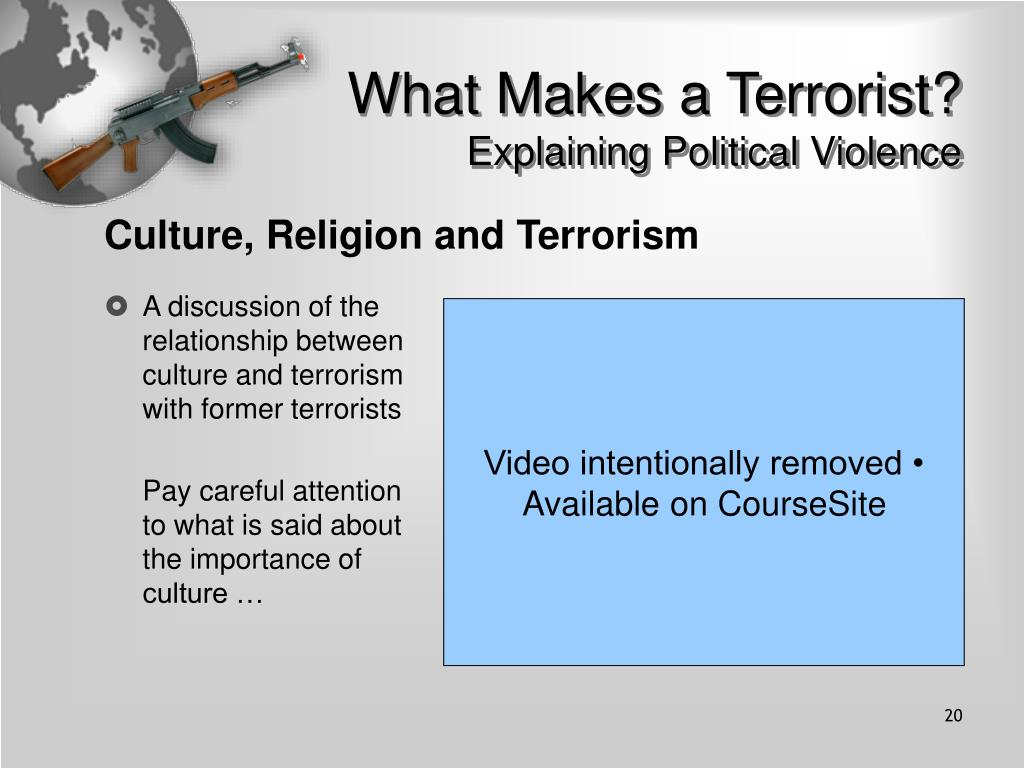 What Makes a Terrorist?