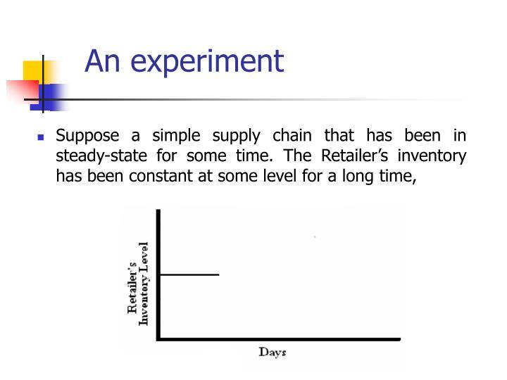 An experiment