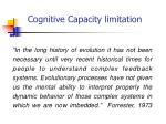 cognitive capacity limitation