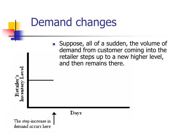 Demand changes