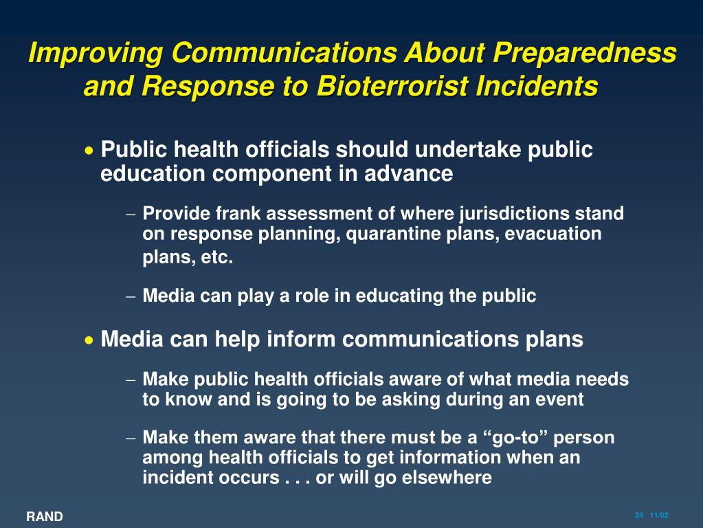 Improving Communications About Preparedness