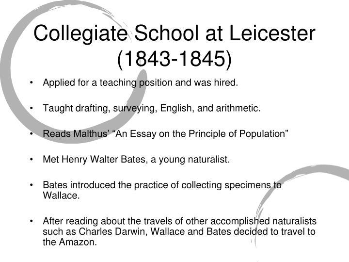Collegiate School at Leicester (1843-1845)