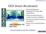 gen dozier residential
