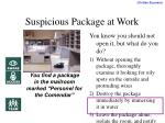 suspicious package at work
