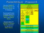 paired attribute proposal b