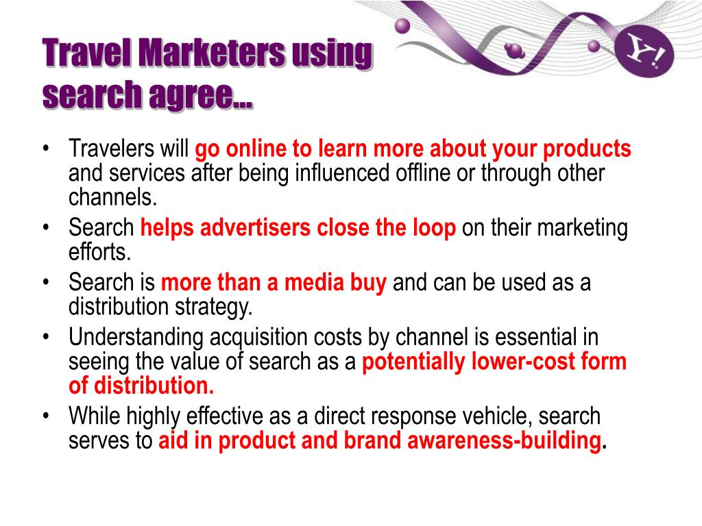Travel Marketers using search agree…
