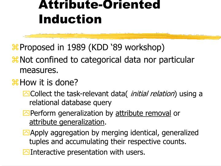 Attribute-Oriented Induction