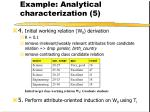 example analytical characterization 5