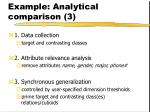 example analytical comparison 3