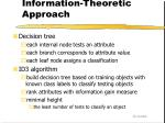 information theoretic approach