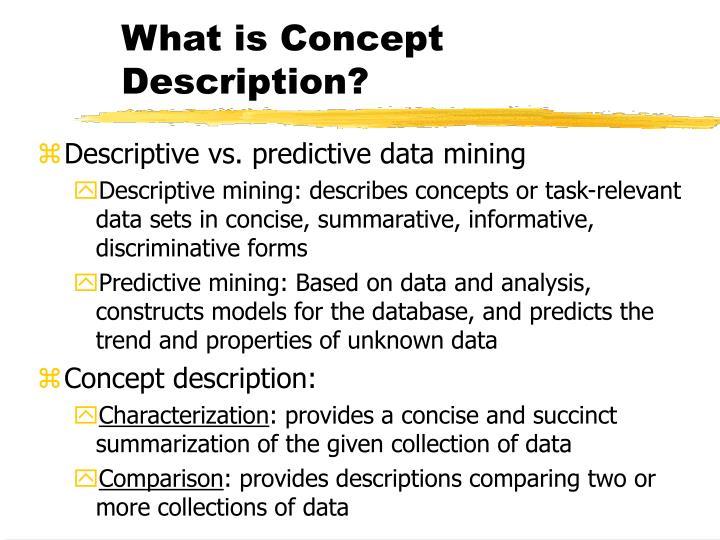 What is Concept Description?