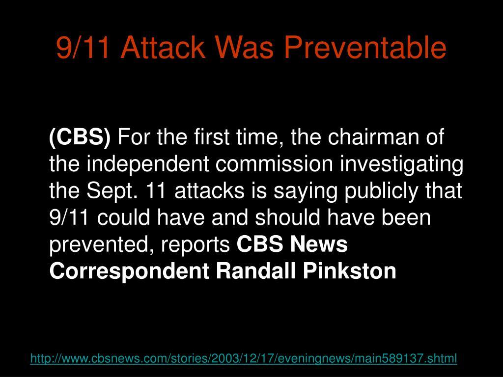 9/11 Attack Was Preventable