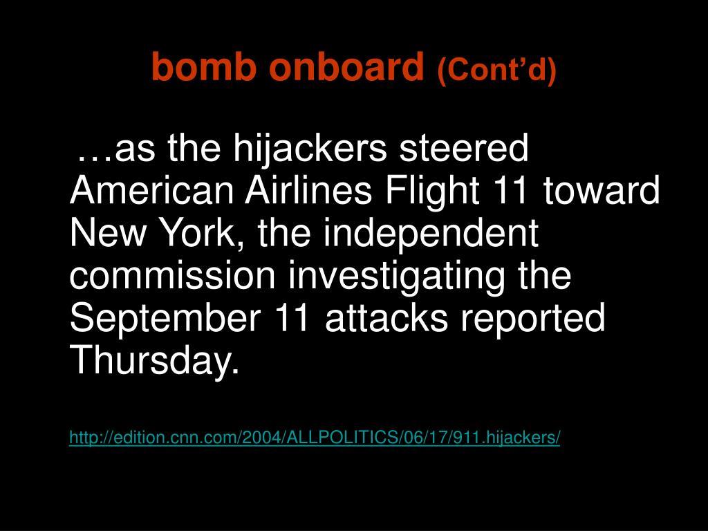 bomb onboard