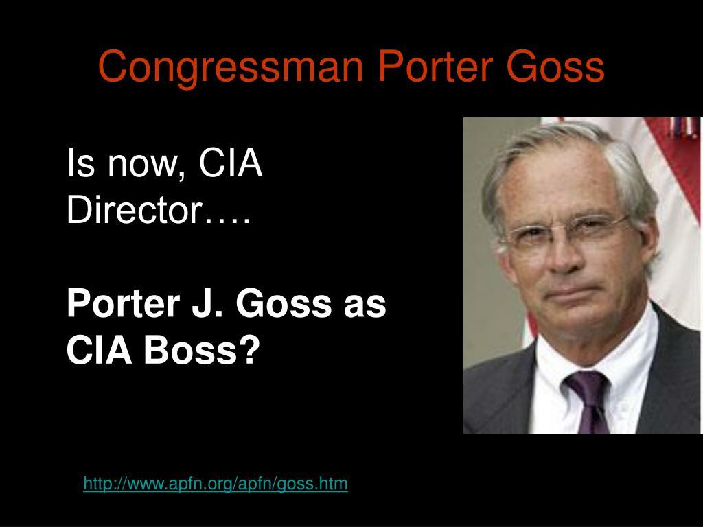 Congressman Porter Goss