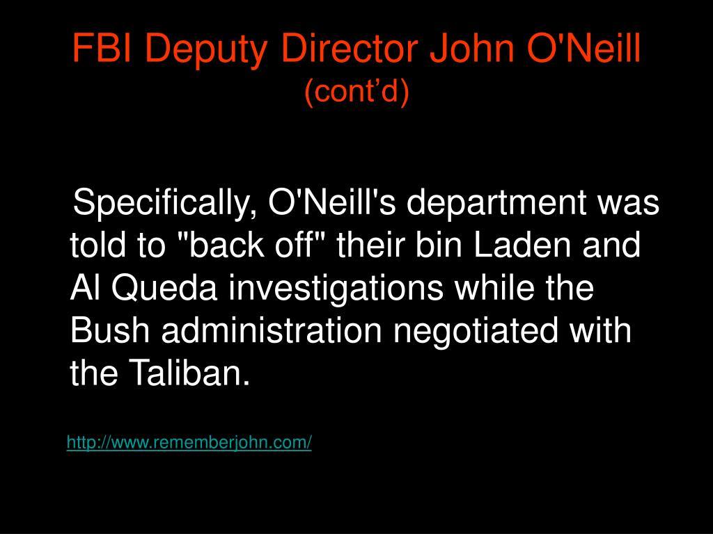 FBI Deputy Director John O'Neill