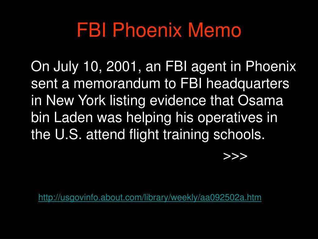 FBI Phoenix Memo