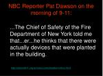 nbc reporter pat dawson on the morning of 9 11