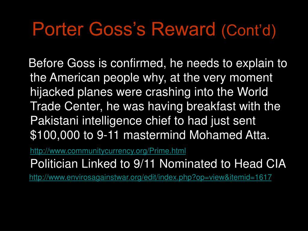 Porter Goss's Reward