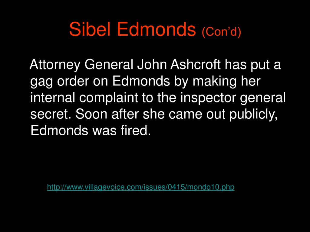 Sibel Edmonds