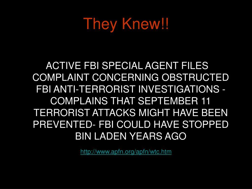 They Knew!!