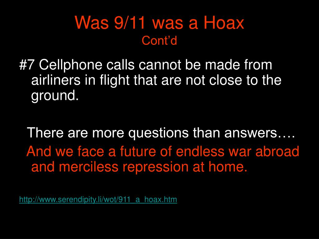 Was 9/11 was a Hoax