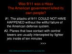 was 9 11 was a hoax the american government killed its own people