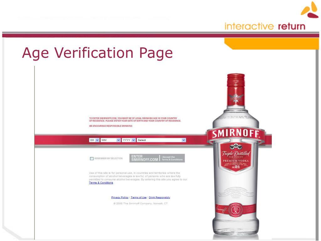 Age Verification Page