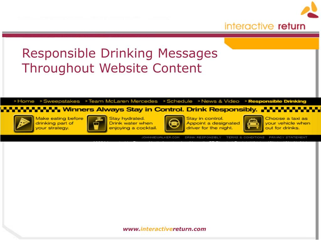 Responsible Drinking Messages