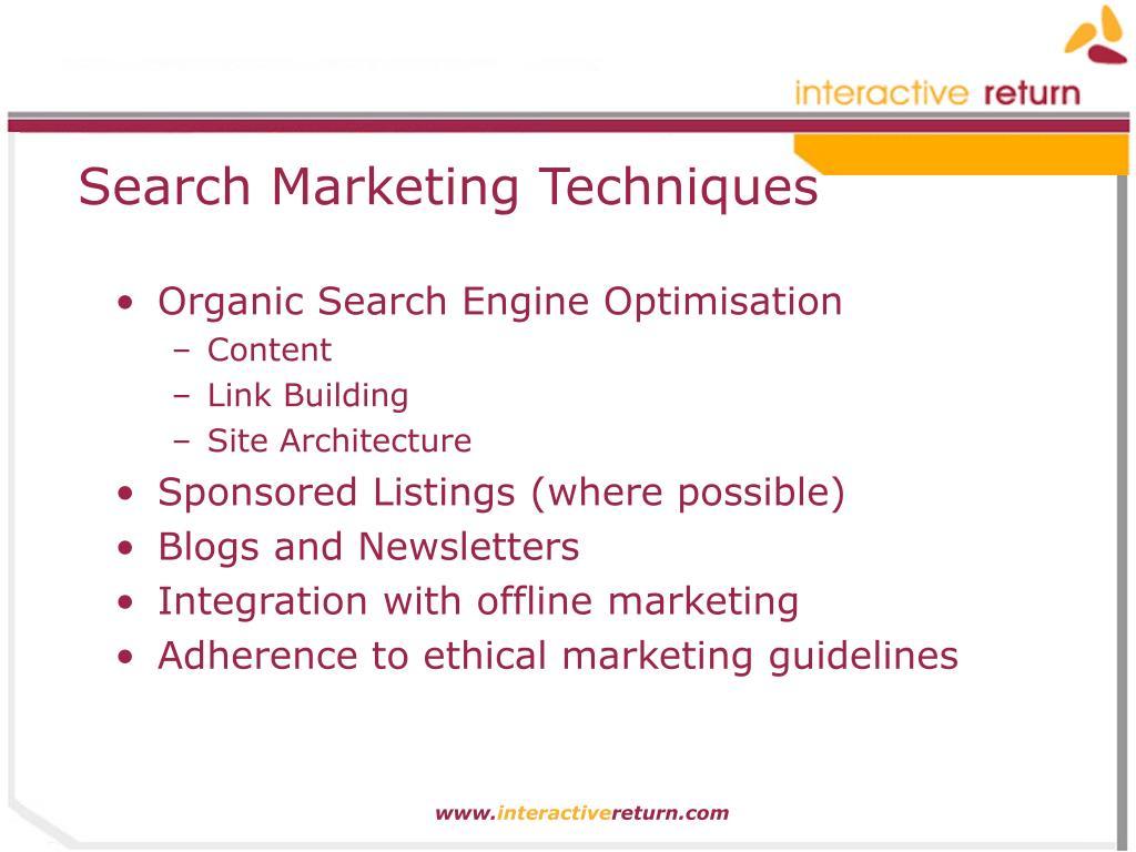 Search Marketing Techniques