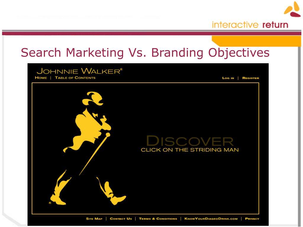 Search Marketing Vs. Branding Objectives