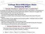 college board michigan state university effort1