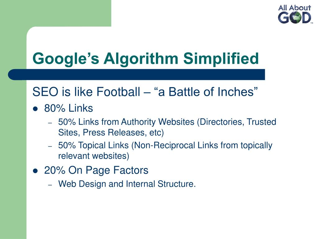 Google's Algorithm Simplified